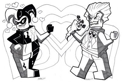 Comm Lego Misfit Harley and Joker